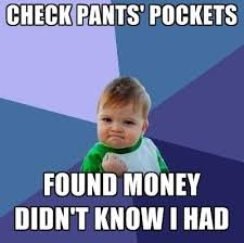 Meme Tracking - realizing you have more money in your account meme smart tools for
