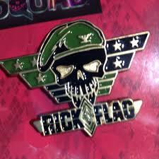 Slipknot Flag Squad Harley Quinn Slipknot Rick Flag Lapel 3 Pin Set Dc