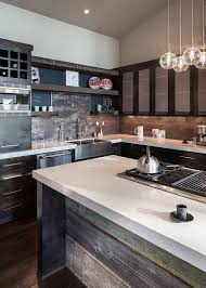 kitchen fancy modern rustic kitchen island wood cabinetry marble
