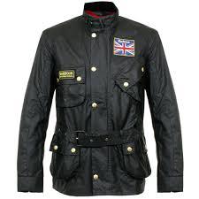 barbour union jack international wx0068bk mens jacket