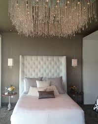 bedroom elegant crystal high ceiling lighting design in modern