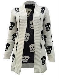 skull sweater skull knitted cardigan lol helena gerodimos crowe you me so