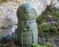 Statue For Garden Decor Jizo Etsy