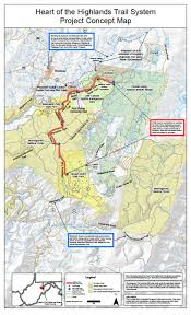 Map Of Canaan Heart Of The Highlands Trail System
