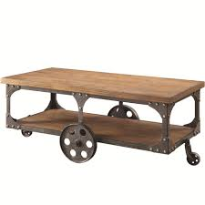 coffee tables attractive wheeled country coffee table wood and