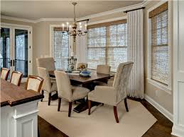 dining room bay window treatments curtains for dining room bay