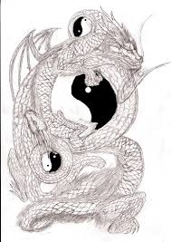 ying yang dragons by dukesketches on deviantart