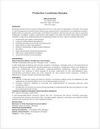 Supply Chain Coordinator Resume Sample by Production Coordinator Resume Resume Job Pinterest Resume