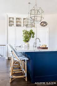 white kitchen with navy blue island reno ideas home bunch