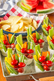 Summer Lunch Ideas For Entertaining Individual Veggie Cups Party Appetizer Unsophisticook
