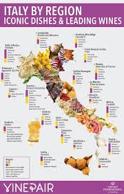 Italian Map Your Guide To The Wine And Food Of Italy Infographic Vinepair