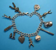 themed charm bracelet vintage baseball themed charm bracelet from just4girls on ruby