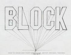 how to draw 3d block letters mom in one point perspective 1