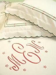 Monogrammed Coverlet Monogrammed Bed Linens Luxury Monogrammed Bedding
