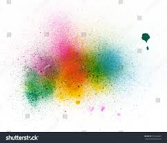 abstract watercolor palette blue yellow green stock illustration