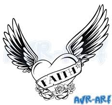 Hearts With Wings - faith with wings design by avrart wings