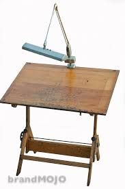 Drafting Table With Light Vintage Industrial Drafting Table With Vintage L Board