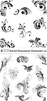 vectors swirl ornament elements 13 2 ai tiff preview 16 mb