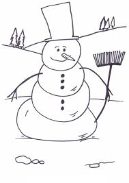 snowman coloring pages 855