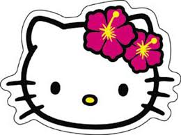 amazon com licenses products hello kitty head shot sticker toys