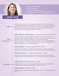 modern curriculum vitae template purple modern cv sle recruiter pinterest modern resume