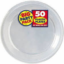 clear plastic plates amscan 7 clear big party pack plastic plates 3 pack 50