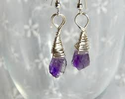 amethyst drop earrings amethyst earrings etsy