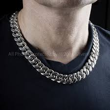 curb chain necklace mens images 15mm curb link mens heavy weight silver JPG