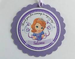 princess sofia thank you tags sofia the thank you tags