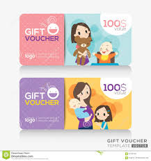 gift cards for kids kids store coupon voucher or gift card design template stock