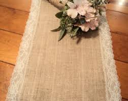 Home Decor With Burlap Burlap Table Runner Modern Rustic Home Decor Farmhouse Table