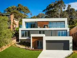 modern home design and build modern home design with contemporary style build on sloping block to