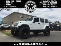 modified white jeep wrangler blackstar offroad orange county used jeep wranglers for sale