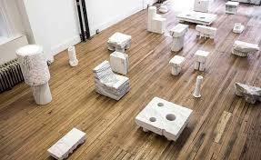 Max Lamb Creates Sculptural Furniture Out Of Marble Wallpaper - Rock furniture