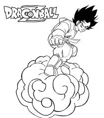 33 dessins de coloriage dragon ball z à imprimer