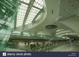 the interior of incheon airport seoul south korea stock photo