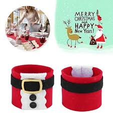 New Year Decoration For Home by Aliexpress Com Buy 2pcs Christmas Clothes Napkin Rings New Year