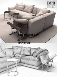 b u0026b italia sofa maxbrute model 3dsmax vrayy