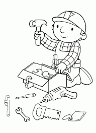 coloring pages bob builder coloring pages kids collection
