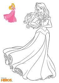 Coloriage Aurore de la Belle au bois Dormant Disney Princesses