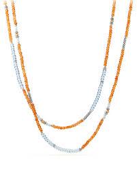 long orange necklace images David yurman tweejoux long bead necklace in orange blue stone mix jpg