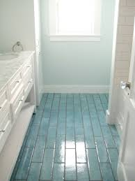 Inspirational Bathroom Ideas With Blue Tile Floor