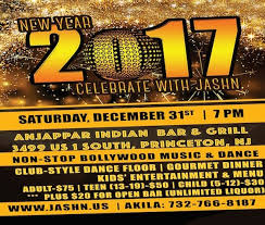 new years events in nj jashn presents a grand new year party 2017 in anjappar indian