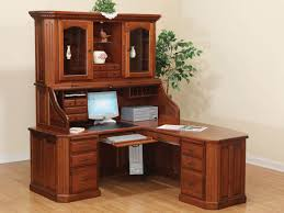 amazing corner desks with hutch solid wood construction brown also