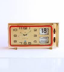 vintage alarm clock retro calendar clock mechanical flip date