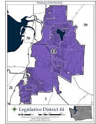 Map Of Greater Seattle Area by Washington U0027s 44th Legislative District Wikipedia