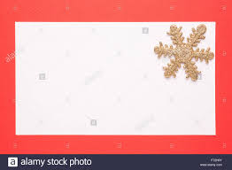 blank card or invitation with snowflake on