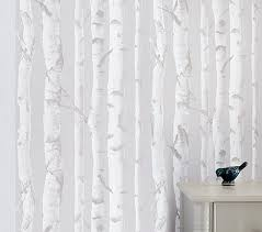 birch peel u0026 stick wallpaper pottery barn kids