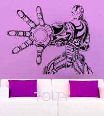 tony stark wall decal iron man poster vinyl sticker art superhero tony stark wall decal iron man poster vinyl sticker art superhero nursery children kid room mural home decor in wall stickers from home garden on