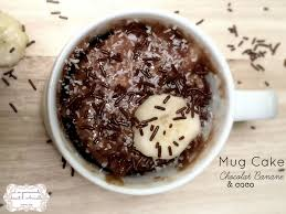 cuisiner banane mug cake chocolat banane coco
